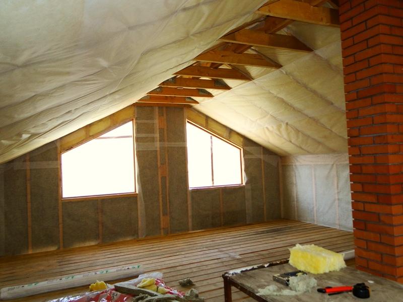 Отделка крыши и стен каркасного дома минеральной ватой